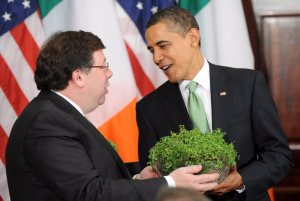 Taoiseach Cowan presents some Irish green shoots!