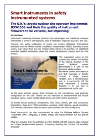 Smart instruments in safety instrumented systems