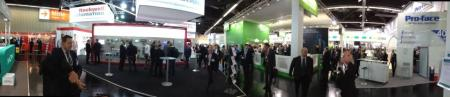 IE Book's impressions from hall 9 (using the cool panorama feature of the iPhone camera)