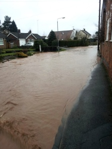 Flood in Oxton