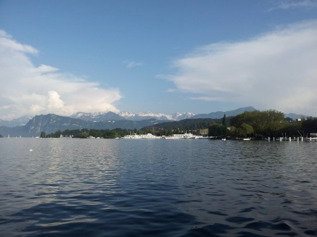 The incomparable beauty of Switzerland - Lake Lucerne a few miles from the new Emerson HQ.