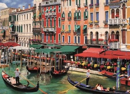 Canalside scene in Venice