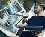 Close partnership with people: the robots from Denmark have been designed for collaborative work in production.