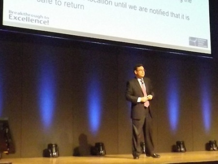 Francisco Diaz-Andreu opens the Emerson Global Users Exchange, Stuttgart, April 2014