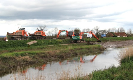 Dredgers commenced work at the end of March 2014