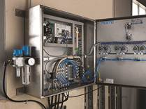 The entire system is run by Festo's CPX remotely operated control system