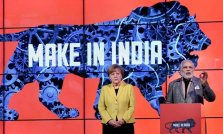 Germany's Dr Angela Merkel and India's Shri Narendra Modi at opening ceremony of 2015 Hannover Meße