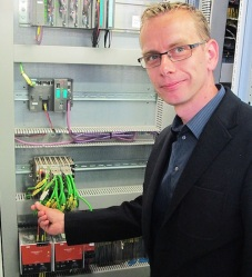 Pavel Ješina with one of the Westermo RedFox switches.