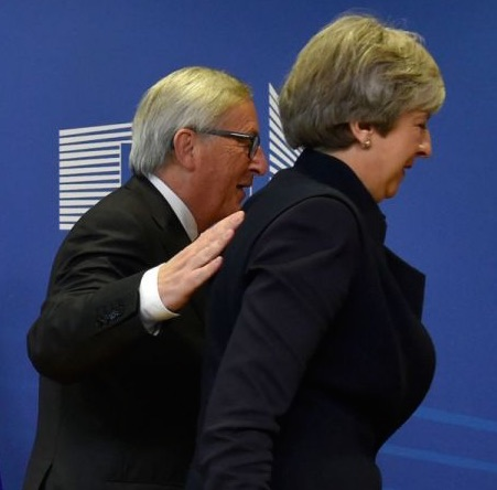 Jean Claude Junker and Theresa May